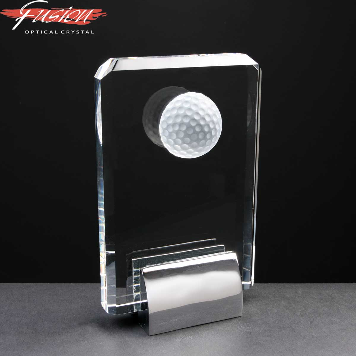 Engraved_Crystal_Golf_Plaque_With_Chrome_Base