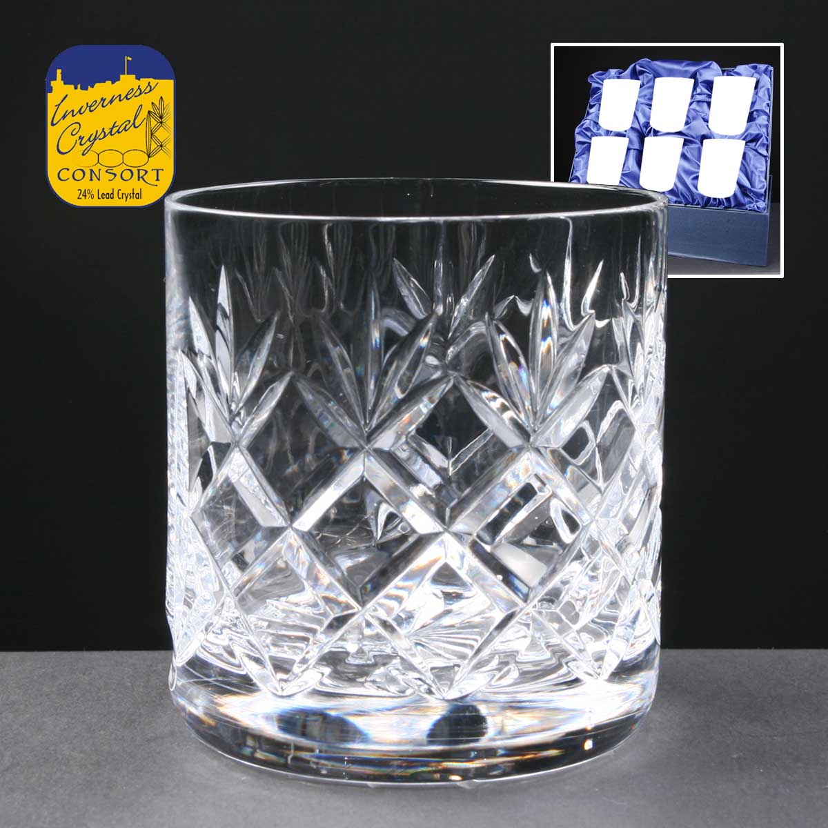 Engraved_golf_award_Inverness_Crystal_Consort_Fully_Cut_Lead_Crystal_10oz_Mixer_Glasses