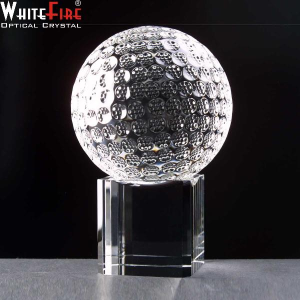 Optical Crystal WhiteFire Golf Ball with Bas