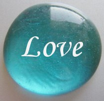 Personalised Heart Gift - Glass Pebble