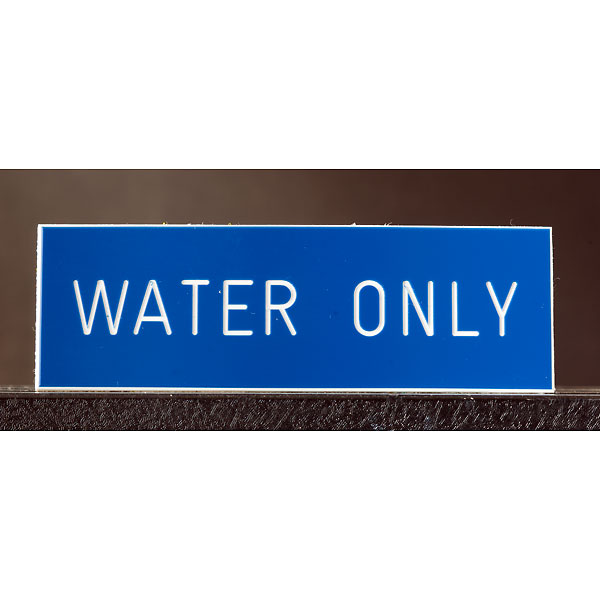engraved_water_only_sign