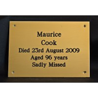 Brass Funeral Plaques