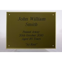 Engraved Funeral Plates