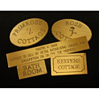 Personalised Miniature Brass Signs