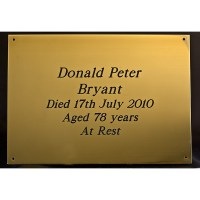 Brass Funeral Coffin Plate