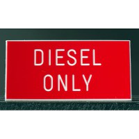 Diesel Only Boat Sign