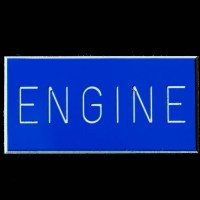 Engine Boat Sign