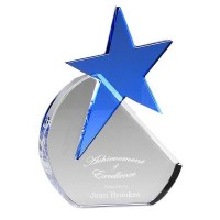 Large Aquamarine Star Award