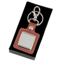 Leather Square Key Ring