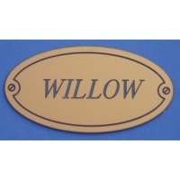 Oval Laminate Memorial Sign