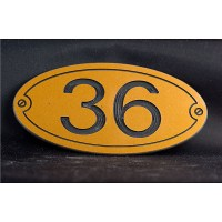 Oval Plastic Laminate Sign