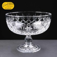 Panelled 24% Lead Crystal Comport Bowl