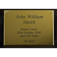 Plastic Funeral Coffin Plate