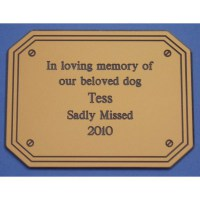 Rectangular Laminate Memorial Sign