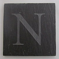 Slate Coaster with Letter