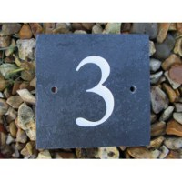 Slate House Number Sign