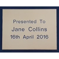 Engraved Brass Plaque 4